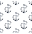 Retro ship anchors seamless pattern with twisted vector image