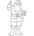 Santa Claus Holding Bell And Waving For Christmas vector image