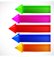 Set of colorful arrows for your chart vector image