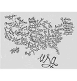 USA Hand Drawn Map 03 A vector image