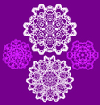 lace doily pattern set vector image