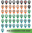 Pin Markers for Map vector image