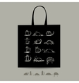 Shopping bag with cats for your design vector image vector image