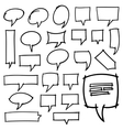 Hand Drawn Speech Bubbles Design Elements vector image