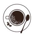 espresso cup top view vector image