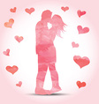 watercolour couple with hearts 1612 vector image vector image