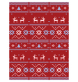 Christmas Knitted wool pattern vector image
