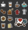 coffee and tea icon vector image