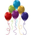 colorful festive balloons vector image
