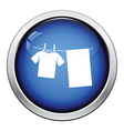 Drying linen icon vector image