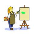 Girl Teen Painting vector image