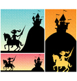 Knight Backgrounds vector image