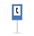 sign on phone vector image