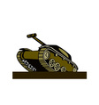 World War Two Battle Tank vector image vector image