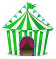 A green circus tent vector image