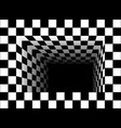 black and white tunnel vector image