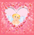 light heart angel 380 vector image vector image