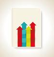 Modern brochure design with color arrows vector image vector image