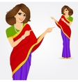 indian woman showing something vector image