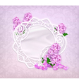 Lace frame lilac romantic background vector image vector image