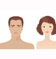 man and woman portraits vector image