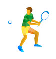 big tennis player isolated on white background vector image