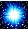 Blue color design background with a shining burst vector image