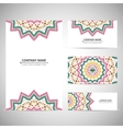 Business card template in native style vector image