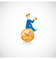 Coffe break flat icon vector image