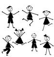 doodle kids vector image