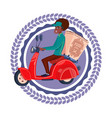 fast delivery service icon isolated african vector image