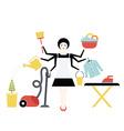 Housekeeper vector image