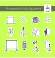 Photography Studio Equipment vector image