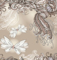 Seamless pattern with butterflies for wedding vector image