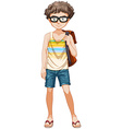 Teenage boy vector image