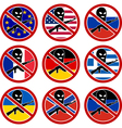 set of signs NO terrorism vector image