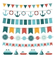 sea theme garland vector image