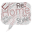 Why Renovate When You Can Retro Reno text vector image