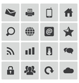 black internet icons set vector image