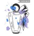 fragnance bottle 1 vector image
