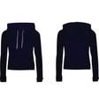 women dark blue hooded sweatshirt vector image