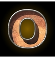 old metal letter o vector image