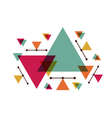 308abstract triangle designVS vector image