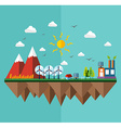 Ecology city flat concept vector image vector image