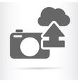 digital camera cloud icon vector image vector image