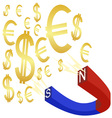 money magnet vector image vector image