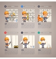 Wall Repair with Worker vector image