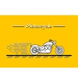 classic motorcycle 01 vector image