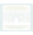 Abstract christmas tree card vector image