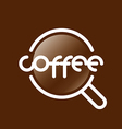 Abstract logo coffee cup vector image